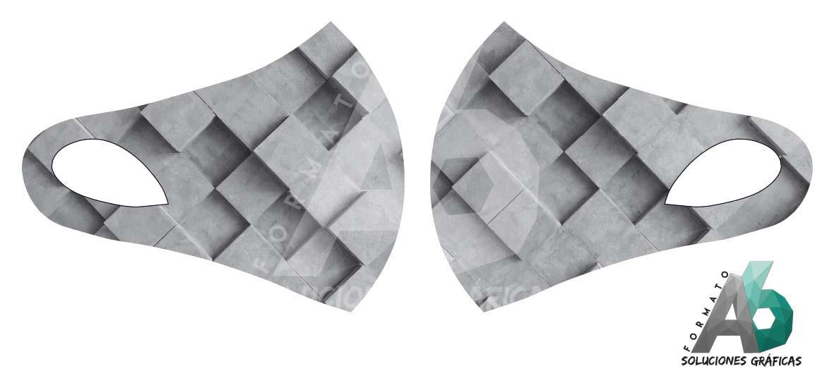 Mascarilla de cuadrados 3D