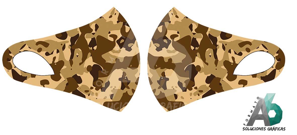 Mascarilla de camuflaje marrón