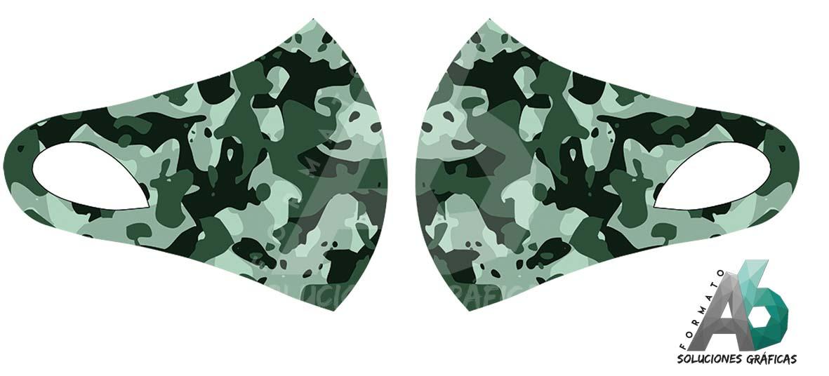 Mascarilla de camuflaje verde