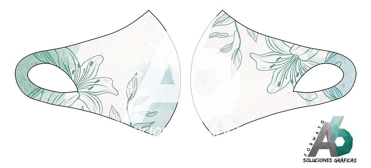Mascarilla de flor verde (2)