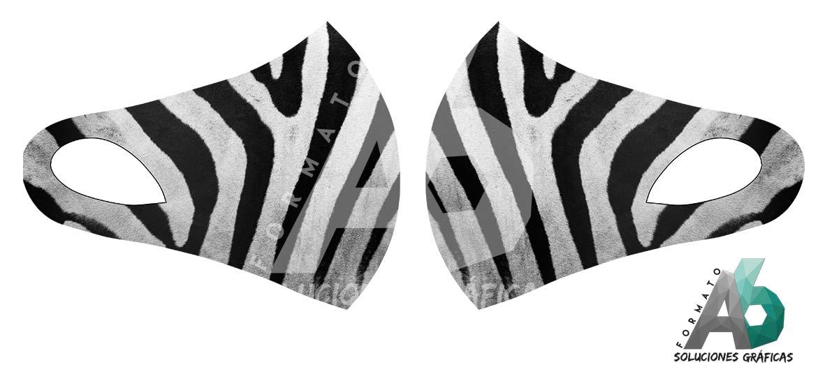 Mascarilla de piel de cebra