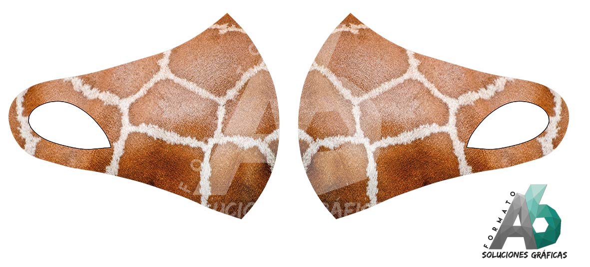 Mascarilla de piel de jirafa