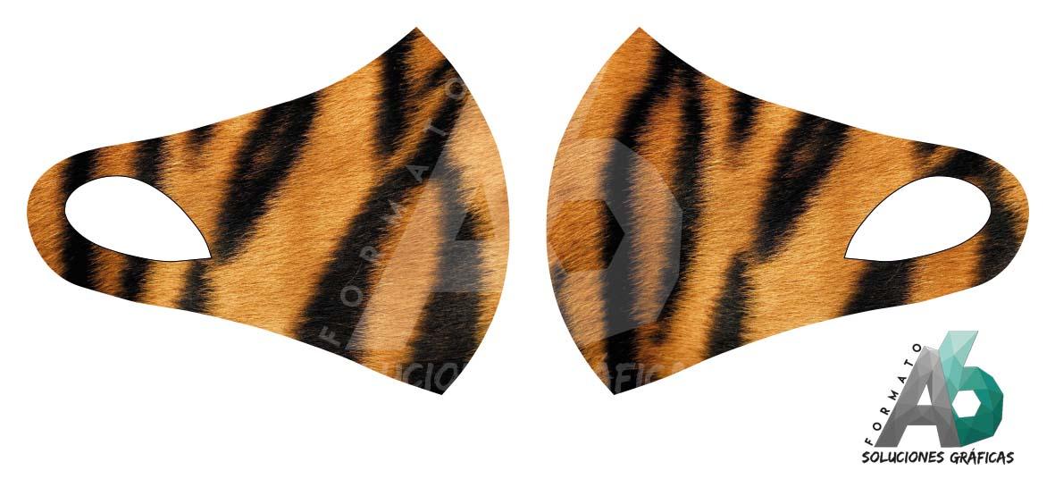 Mascarilla de piel de tigre